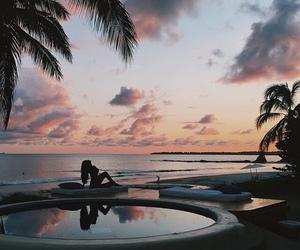 beach, pool, and sky image