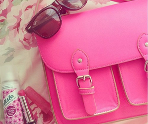 pink, bag, and sunglasses image