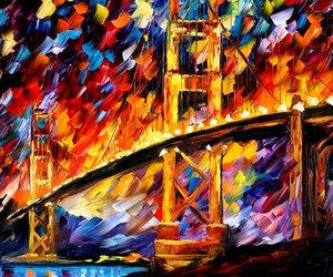 colorido puente oleo image