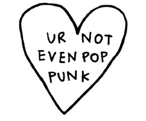 pop punk, heart, and punk image