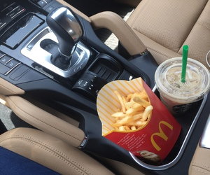 food, car, and McDonalds image