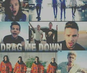 video, one direction, and drag me down image