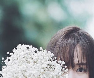 flower, girl, and cute image