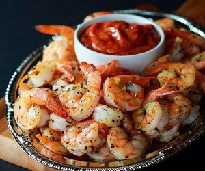 food, seafood, and shrimps image