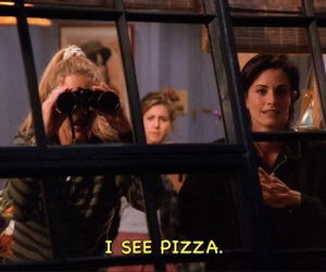 pizza, friends, and funny image