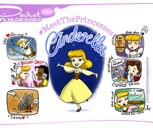 cinderella, pocket princesses, and disney image
