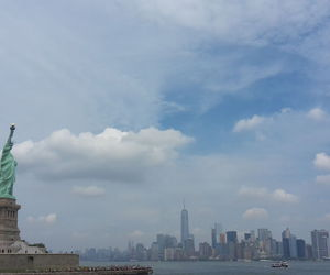 ny, nyc, and statue of liberty image