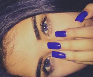 blue, nails, and blue eyes image