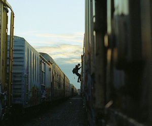 freight, train, and graffiti image