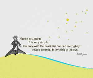 little prince, quote, and heart image