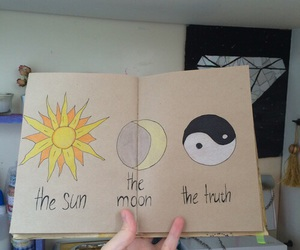 moon, sun, and wreck this journal image