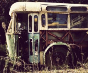 bus, vintage, and old image