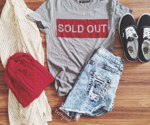 beanie, vans, and hipster clothes image