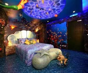 bedroom, ariel, and disney image