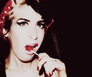 Amy Winehouse and lollipop image