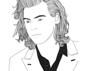 outlines, pro pics, and Harry Styles image
