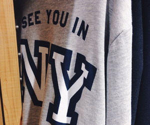 ny, shirt, and sweaters image
