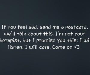 sad, postcard, and care image