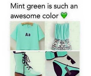 green, mint, and style image