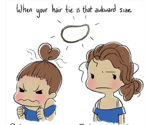 girl, hair, and funny image