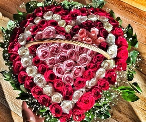 love, beautiful, and bouquet image