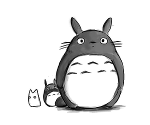 totoro, anime, and kawaii image