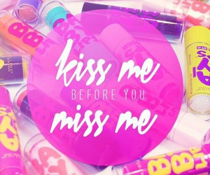 pink, kiss, and quote image