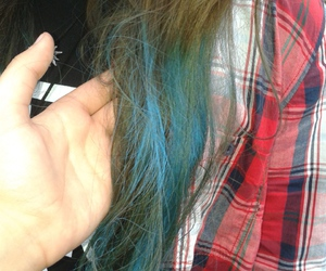 blue, blue hair, and colored image