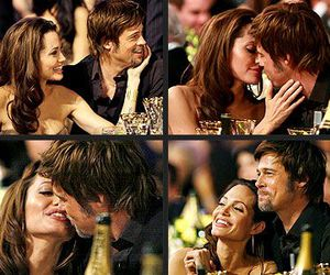 couple, brad pitt, and Angelina Jolie image