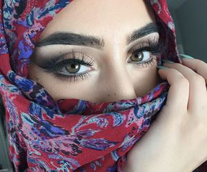 beauty, eyes, and eyebrows image