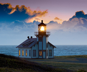 lighthouse, photography, and sea image