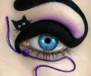 cat, eye, and makeup image