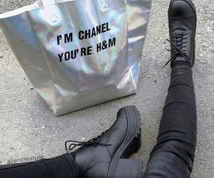 chanel, grunge, and black image