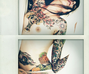 ink, lace, and tattooed girl image