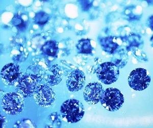 blue, glitter, and light image