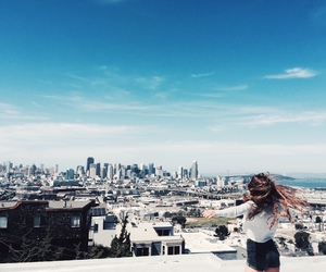blue, city, and girl image