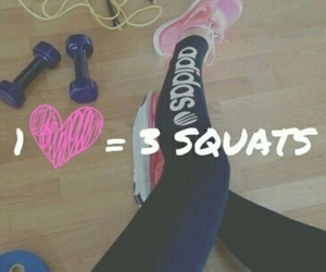 squats, workout, and fitness image