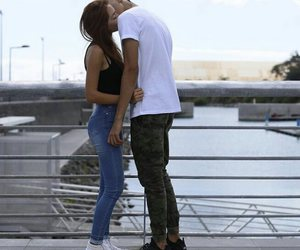 couple, girl, and outfit image
