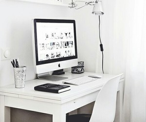 white, apple, and room image