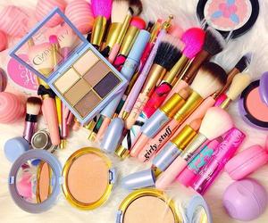 makeup, make up, and lipstick image