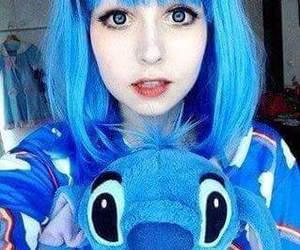 blue, kawaii, and hair image