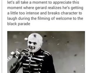 funny, music, and gerard way image