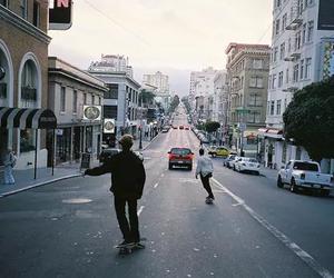 skate, boy, and city image