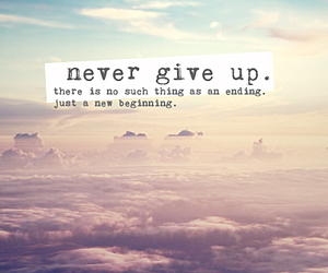 quotes, never, and never give up image