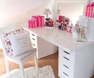 desk, pink, and victoriasecret image