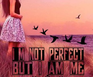 girl, imperfections, and myself image