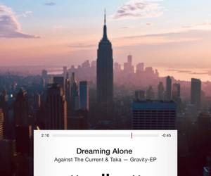 music, against the current, and dreaming alone image