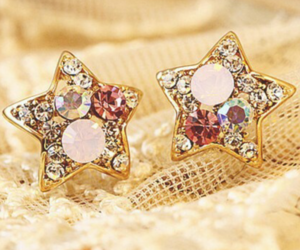 accessories, earrings, and star image