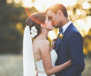 beauty, couple, and dress image