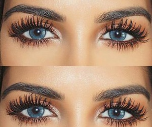 makeup, girl, and blue eyes image